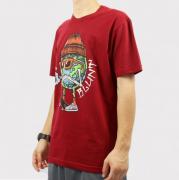 Camiseta Blunt Smoking Planet - Vinho