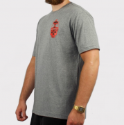 Camiseta Blunt Vulcan Skull - Cinza Mescla