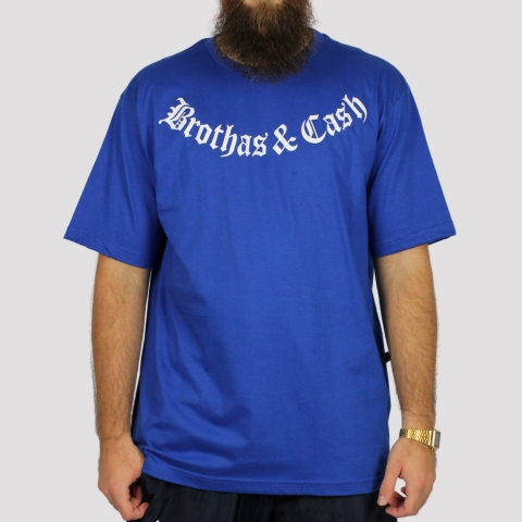 Camiseta Brothas And Cash - Azul