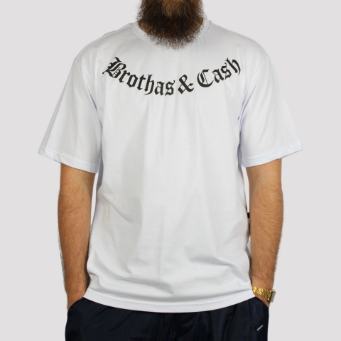 Camiseta Brothas And Cash - Branco