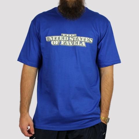 Camiseta Brothas And Cash Favela - Azul