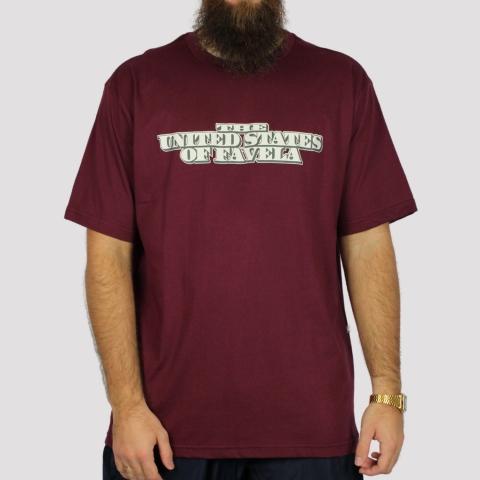 Camiseta Brothas And Cash Favela - Vinho