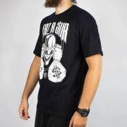 Camiseta Brothas & Cash Palhaço Preta/Branca