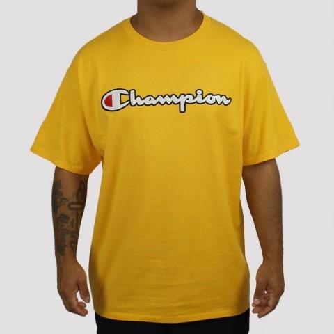 Camiseta Champion Logo Script Classic - Amarelo