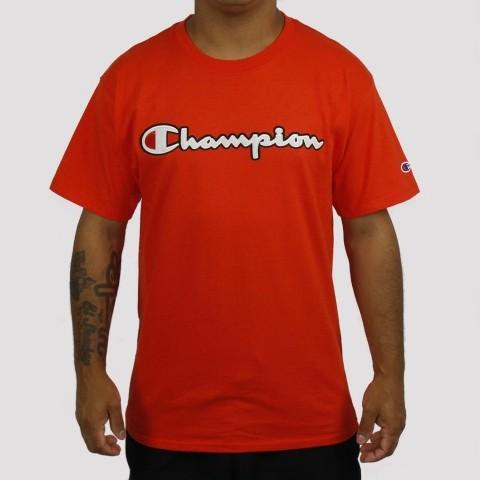 Camiseta Champion Logo Script Classic - Laranja