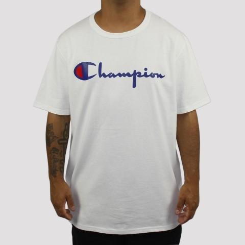 Camiseta Champion Logo Script Heritage - Branco