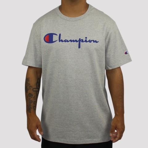 Camiseta Champion Logo Script Heritage - Mescla