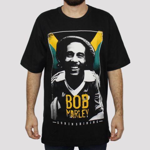 Camiseta Chemical Bob Marley - Preta