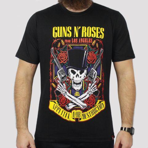 Camiseta Chemical Guns n' Roses - Preta