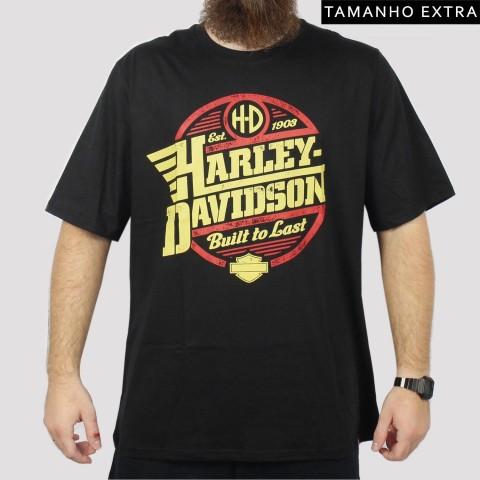 Camiseta Chemical Harley Davidon (Tamanho Extra) - Preta