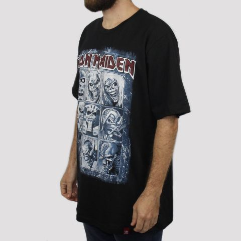 Camiseta Chemical Iron Maiden - Preta