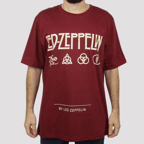 Camiseta Chemical Led Zeppelin - Vinho
