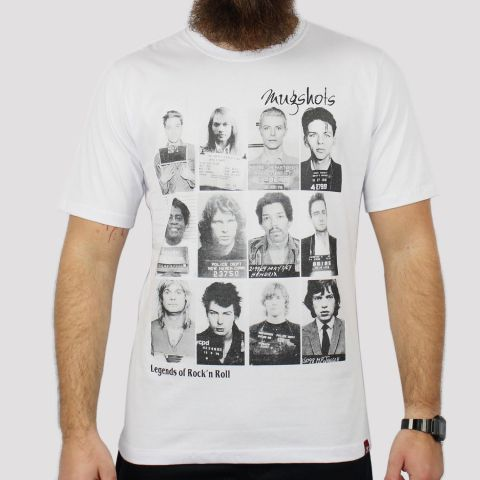 Camiseta Chemical Legends of Rock - Branca