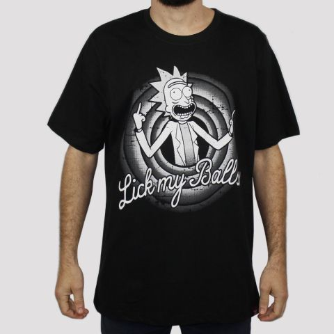 Camiseta Chemical Rick Looney Tunnes - Preta