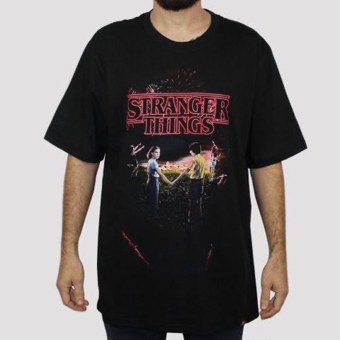Camiseta Chemical Stranger Things - Preta