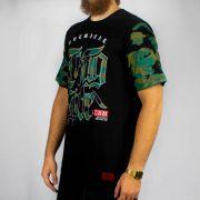 Camiseta Chemical Thug Life Camuflada - Verde/Preta