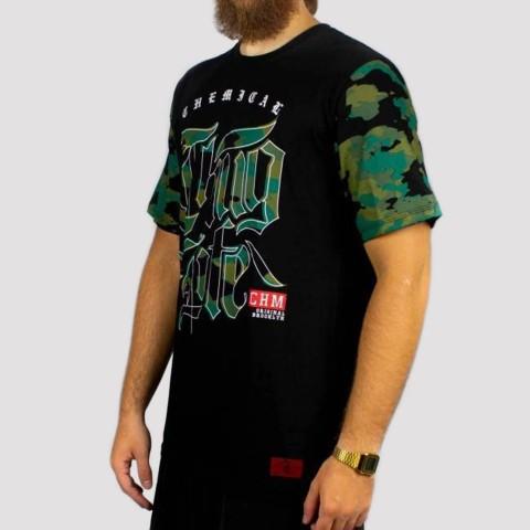 Camiseta Chemical Thug Life (Tamanho Extra) - Preta/Camuflada