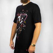 Camiseta Chemical Triângulo Rose Preta (Tamanho Especial)