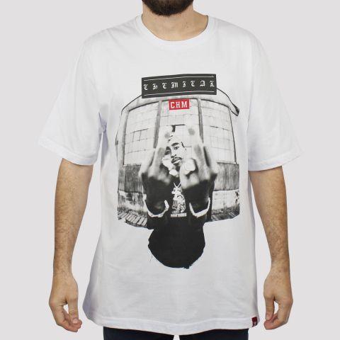 Camiseta Chemical Tupac Fuck - Branca