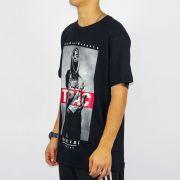 Camiseta Chemical Tupac Preta (Tamanho Especial)