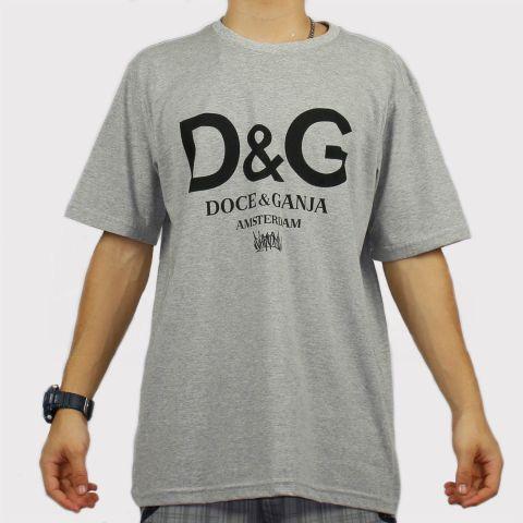 Camiseta Chronic Doce & Ganja - Cinza Mescla/Preto