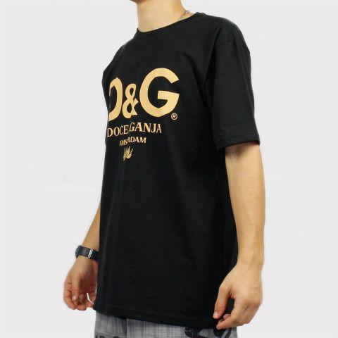 Camiseta Chronic Doce & Ganja - Preto/Amarelo