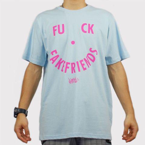 Camiseta Chronic Fuck - Azul Bebê/Rosa