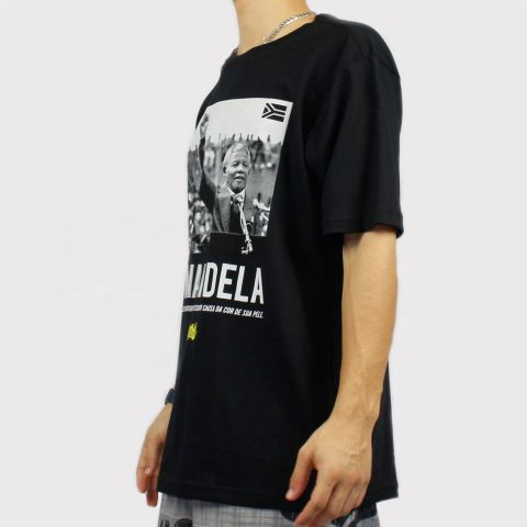 Camiseta Chronic Mandela - Preta/Cinza
