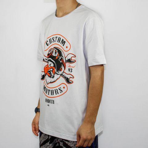 Camiseta Conduta Custom Motors - Branca