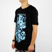 Camiseta Conduta Estampa - Azul/Preta