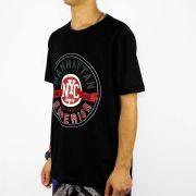 Camiseta Conduta Manhattan Superior Preta/Branca/Vermelha