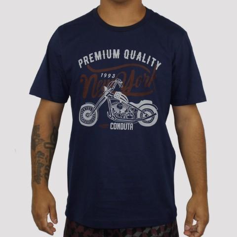 Camiseta Conduta Premium Quality - Azul