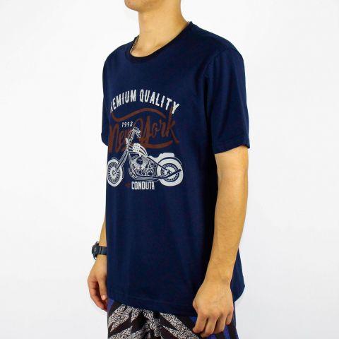 Camiseta Conduta Premium Quality - Azul Marinho