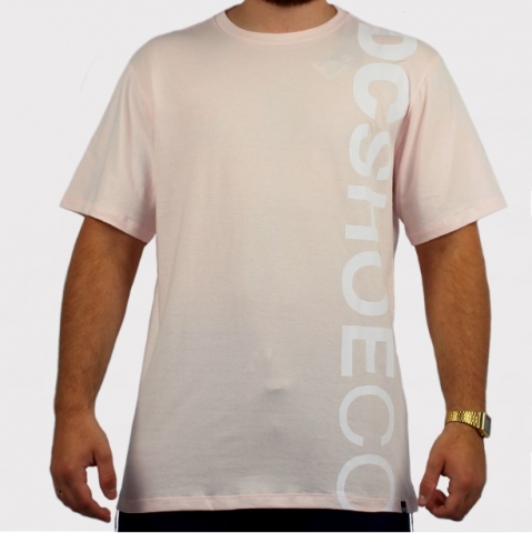 Camiseta Dc Shoes Basica Wepma - Rosa Claro/Branco