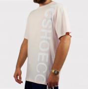 Camiseta Dc Shoes Basica Wepma Rosa Claro/Branco