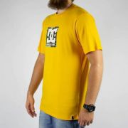 Camiseta DC Shoes Bass Camuflada Boxing Amarela