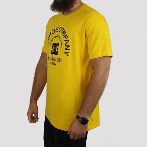 Camiseta DC Shoes California Original Amarela