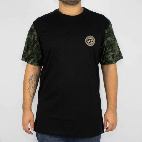 Camiseta DC Shoes Esp Camo Circle - Preta