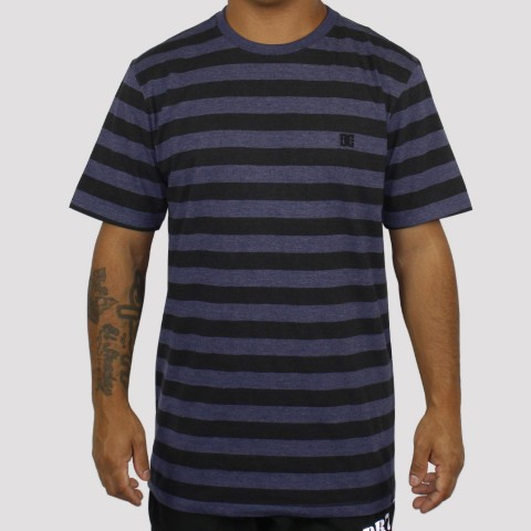 Camiseta DC Shoes Esp M/C Slim Striped - Azul/Preto