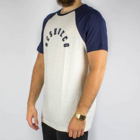 Camiseta DC Shoes ESP Pack Raglan - Branca Gelo