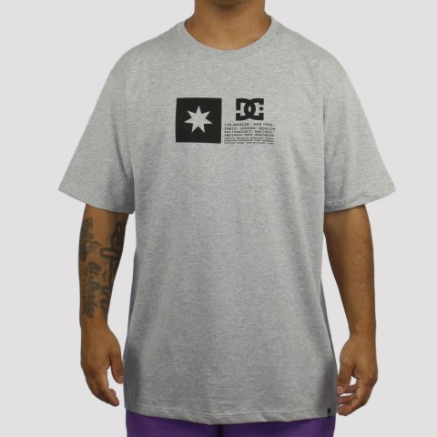 Camiseta DC Shoes Flag - Cinza