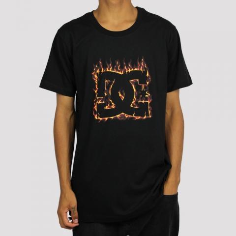 Camiseta DC Shoes Fuego - Preto