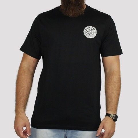 Camiseta DC Shoes M/C Aroud The Globe - Preto