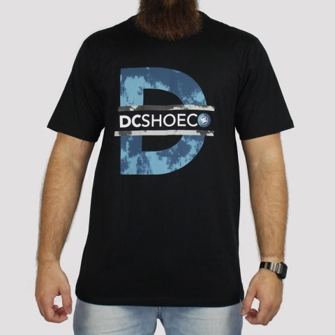 Camiseta DC Shoes M/C Initial - Preto