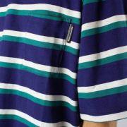 Camiseta DC Shoes Oakride Azul Marinho Listrada