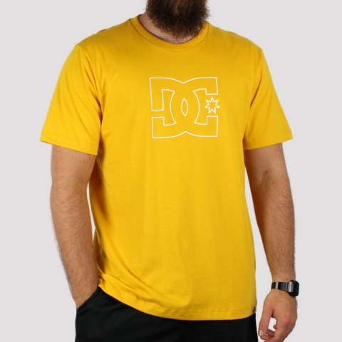 Camiseta DC Shoes Premium Star - Amarela Escura