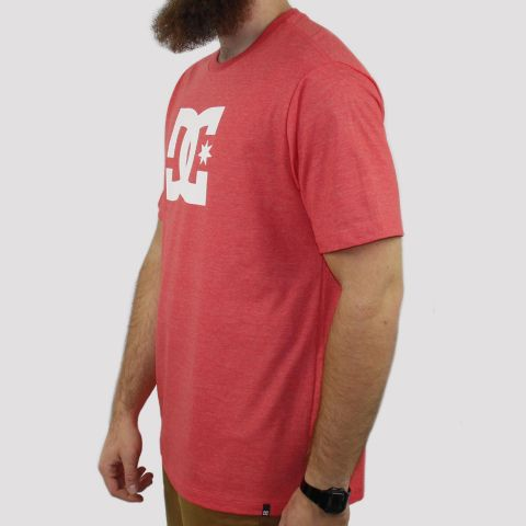 Camiseta DC Shoes Star - Rosa Forte