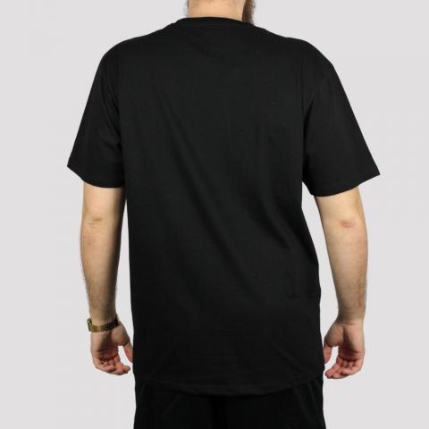 Camiseta Dc Shoes Star Camo Fill (Tamanho Extra) - Preta