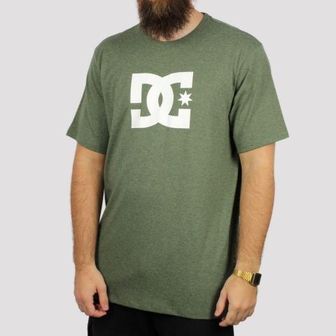 Camiseta DC Shoes Star Heather - Verde Militar Mescla
