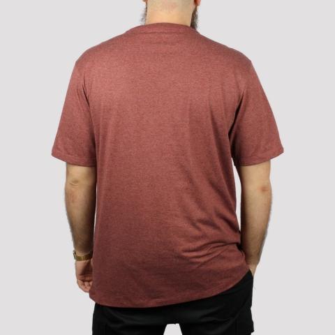Camiseta DC Shoes Star Heather - Vermelho Mescla Escuro
